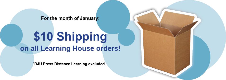 January $10 Shipping Special
