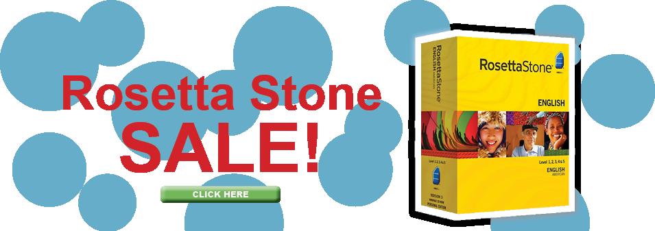 Rosetta Stone SALE Banner